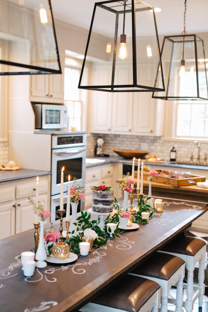kitchen setting for romantic valentines day date