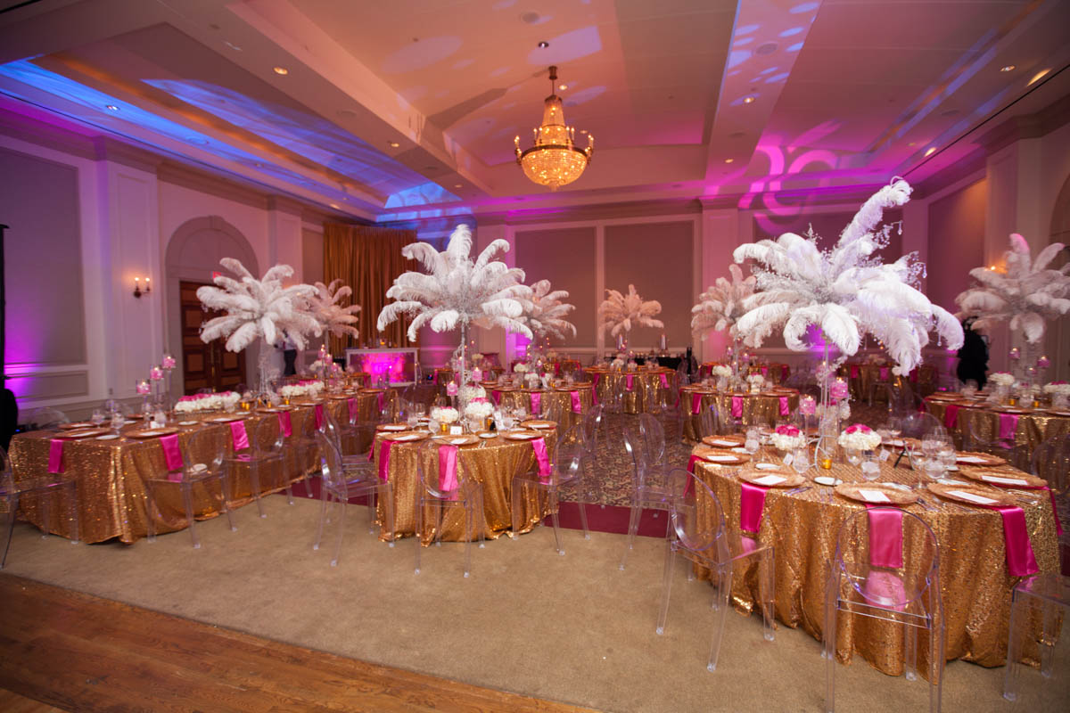 mitzvah venue set up