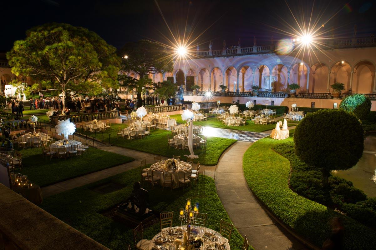outdoor garden venue for a party