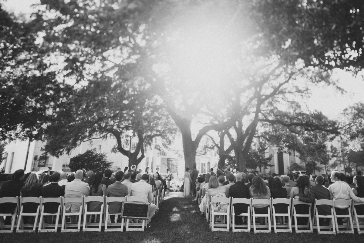 outdoor savannah wedding ceremony