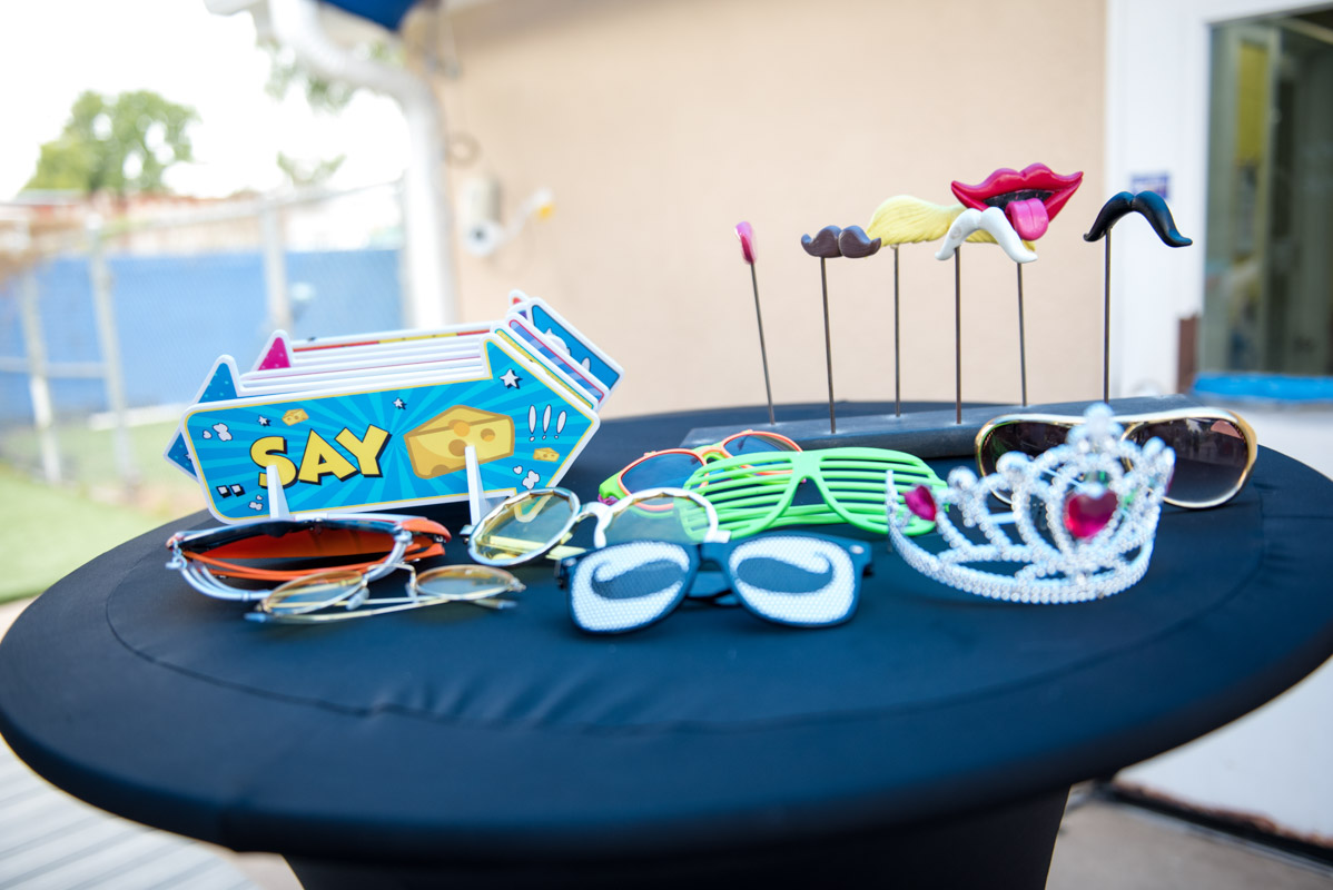 photobooth props for a birthday party