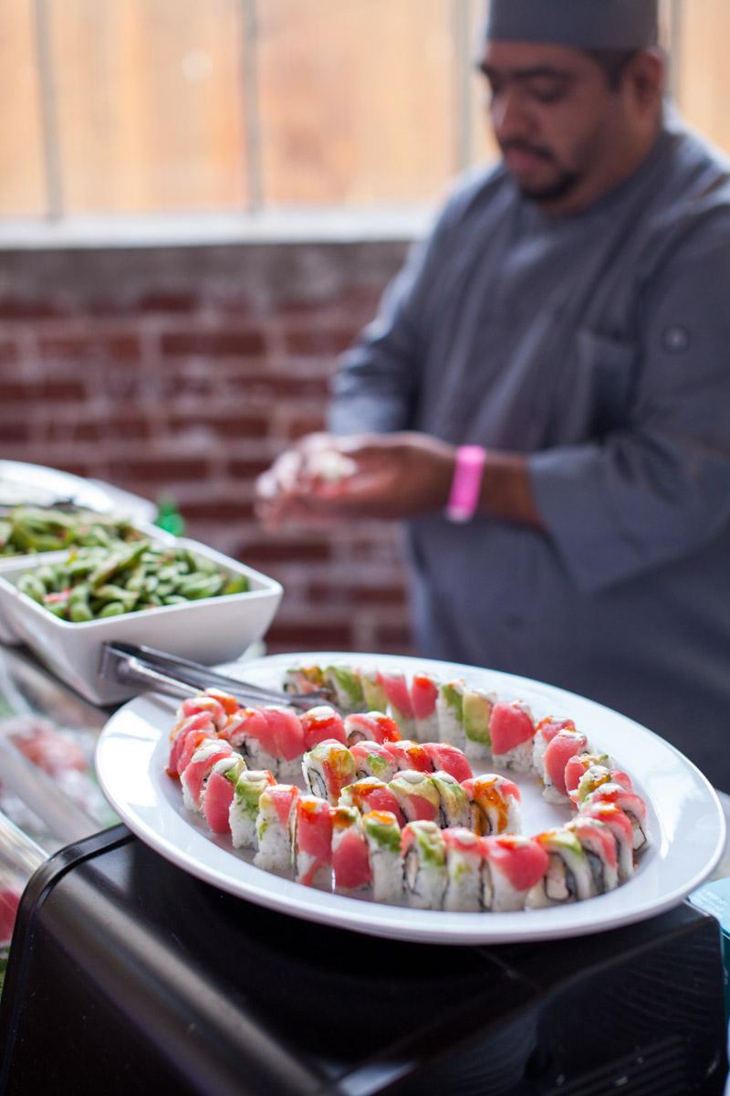 sushi bar at mitzvah