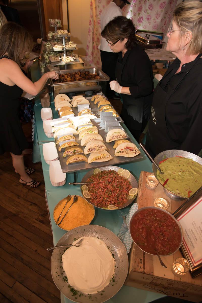 taco bar at mitzvah