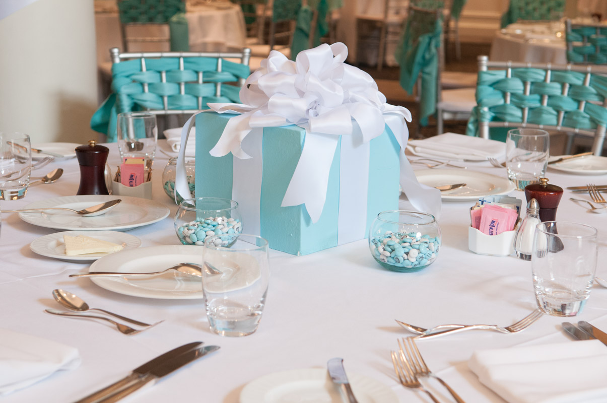 tiffany and co themed centerpiece