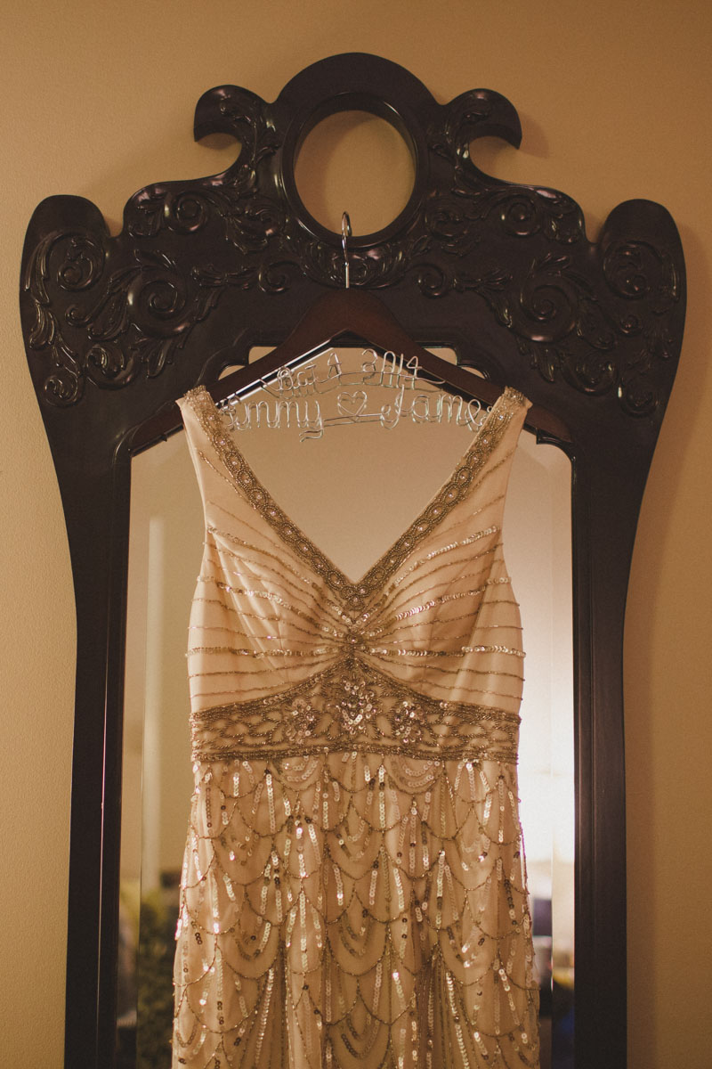 vintage sequined wedding dress