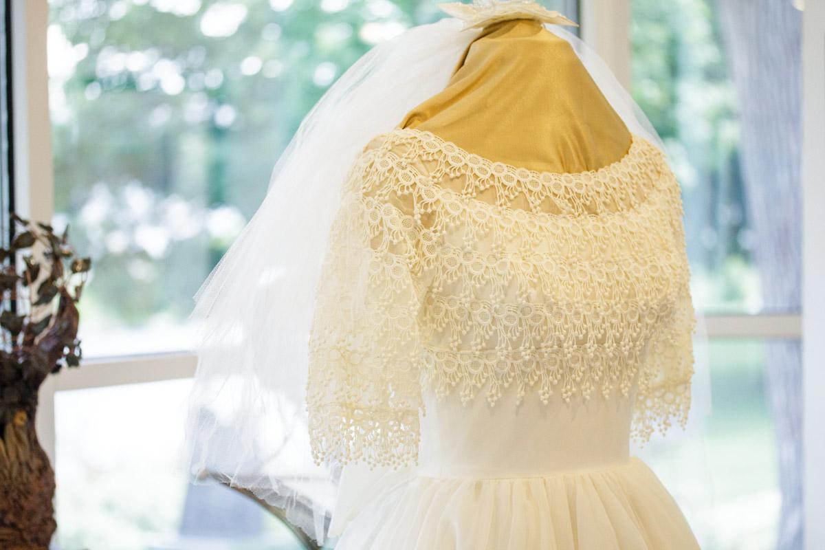 50 year old wedding dress