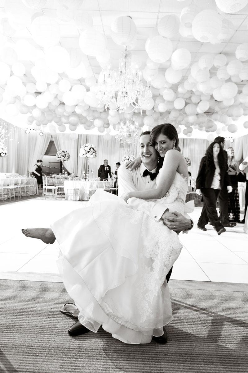 BW Couple on Dance Floor