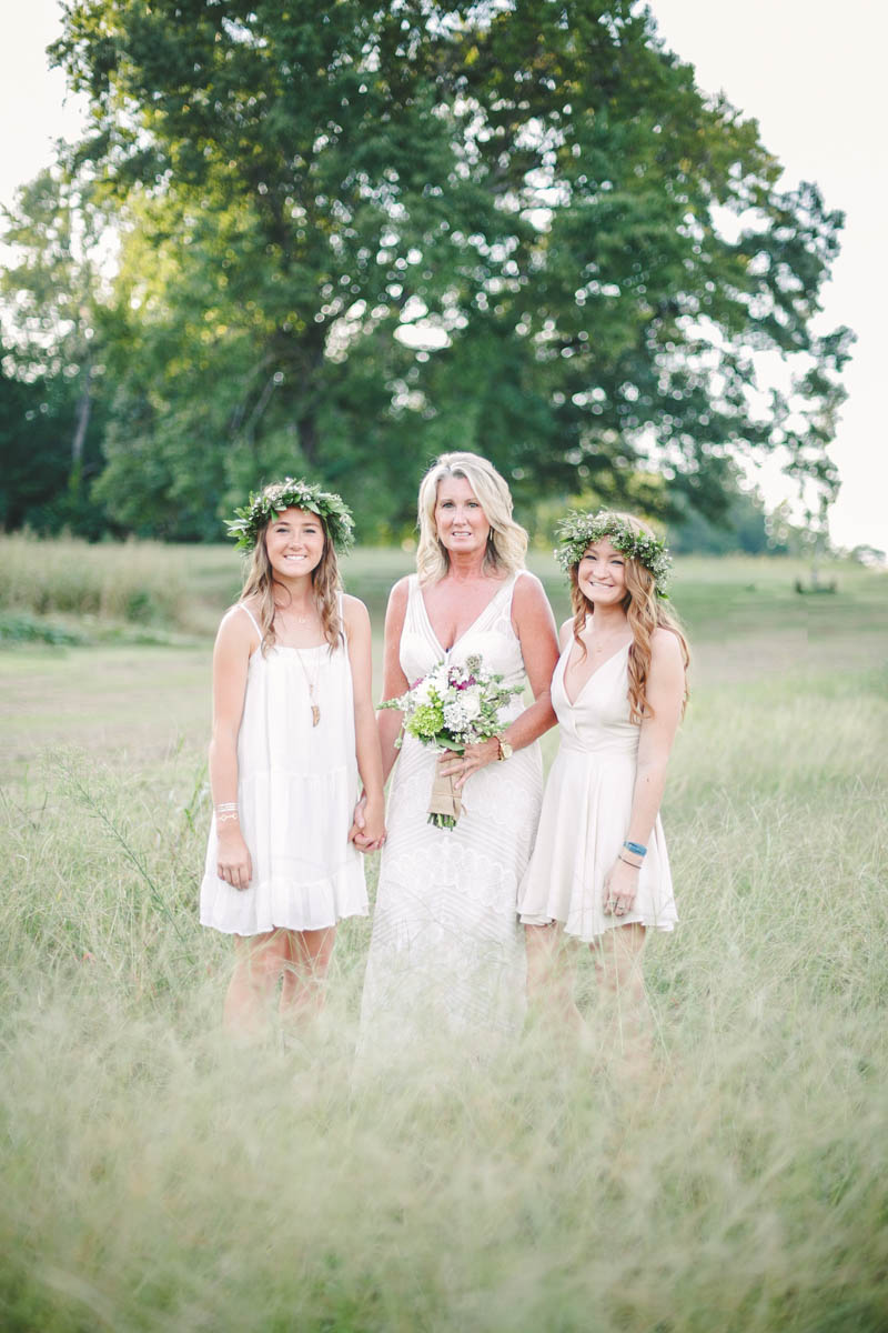 Bride & Daughters in Field