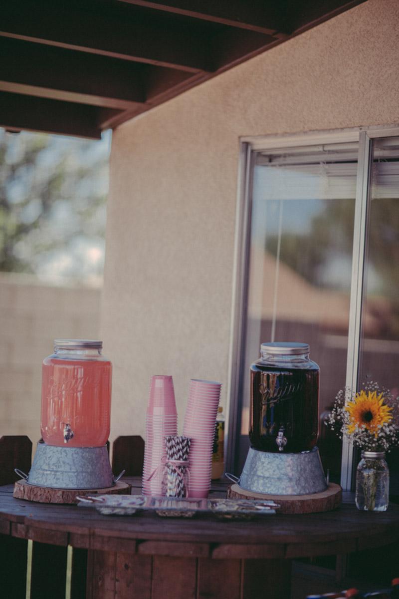 DIY drink table decorations