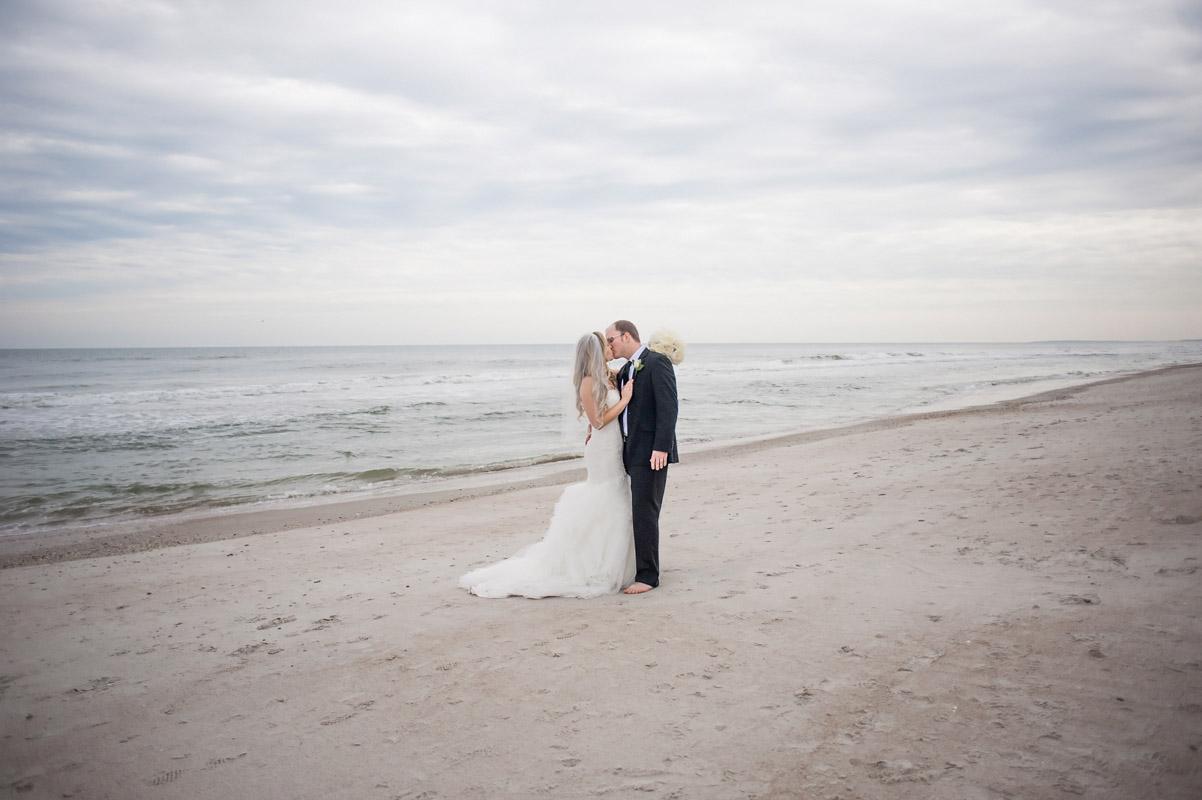 Kissing on Beach