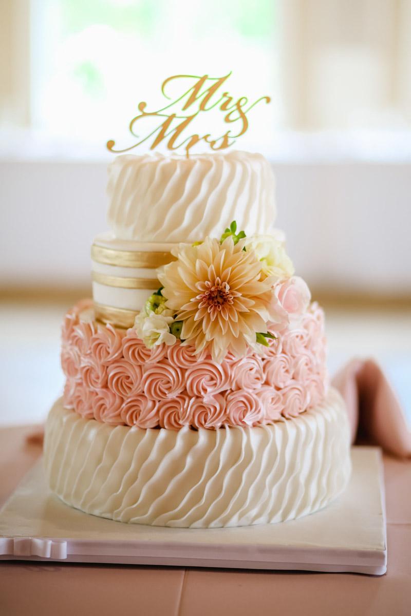 Pink Rose Cake_
