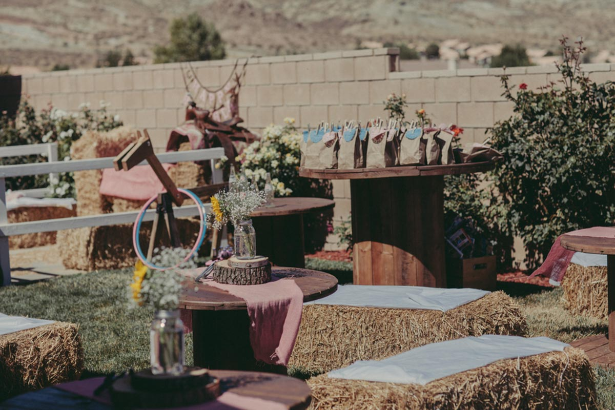 backyard rodeo themed decorations for birthday party