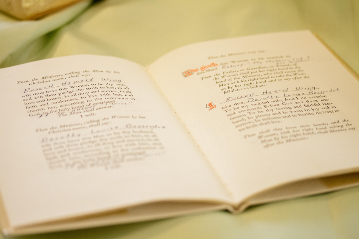 book of vows at anniversary party