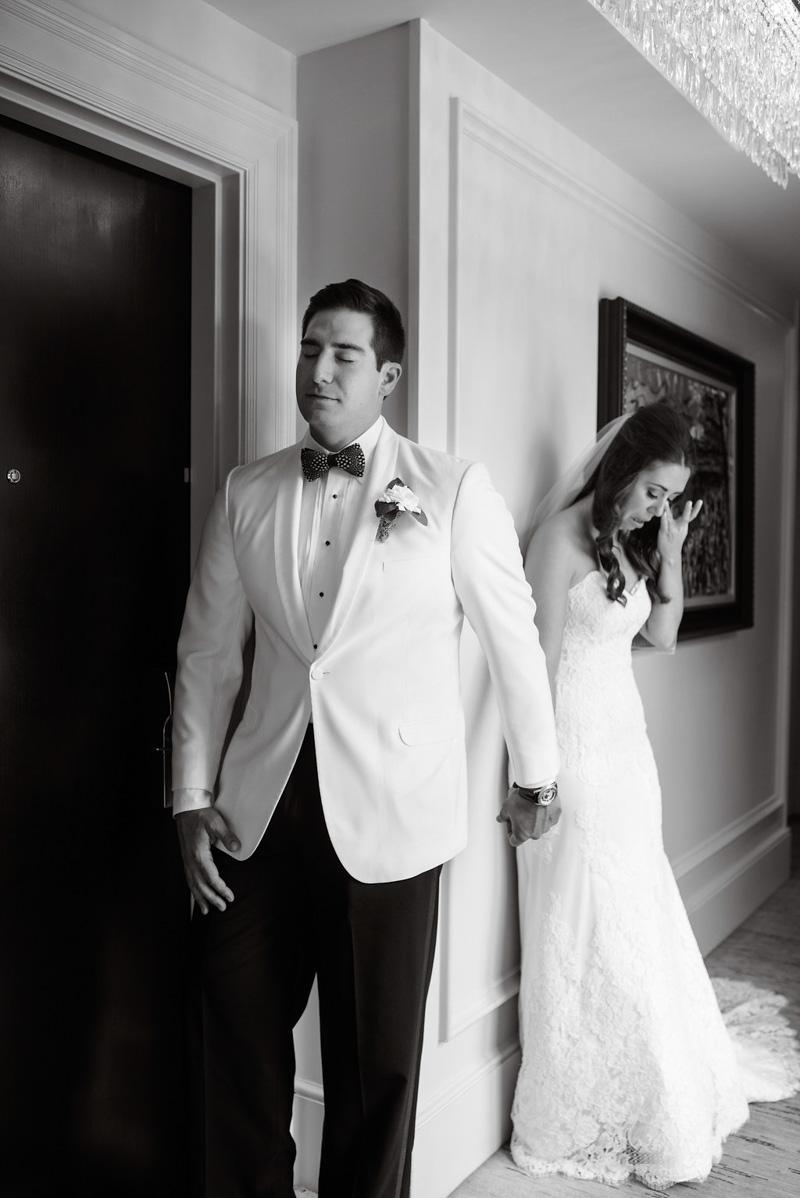 bride and groom praying before wedding