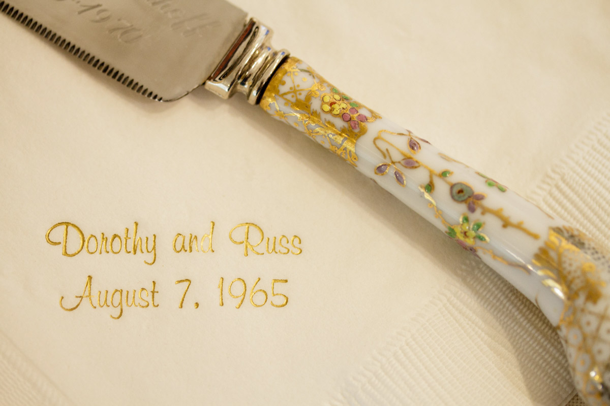 cake knife from wedding 50 years ago