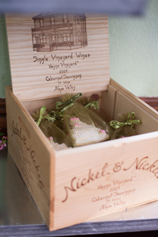 cookie box at bridal party