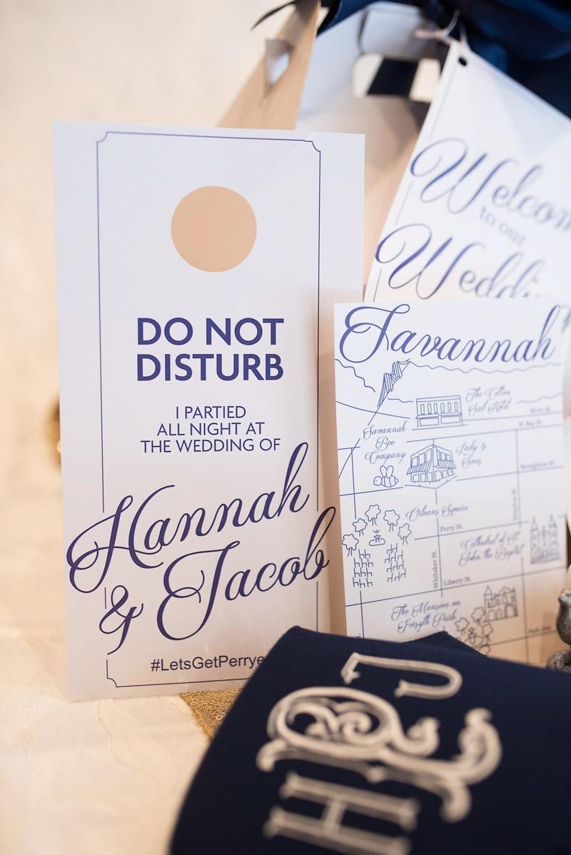 do not disturb wedding door tags