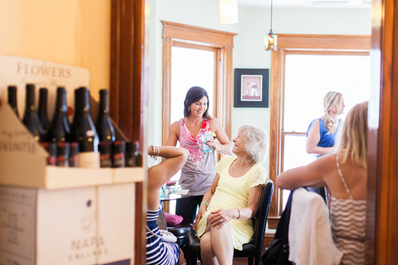 guests enjoying a bridal party