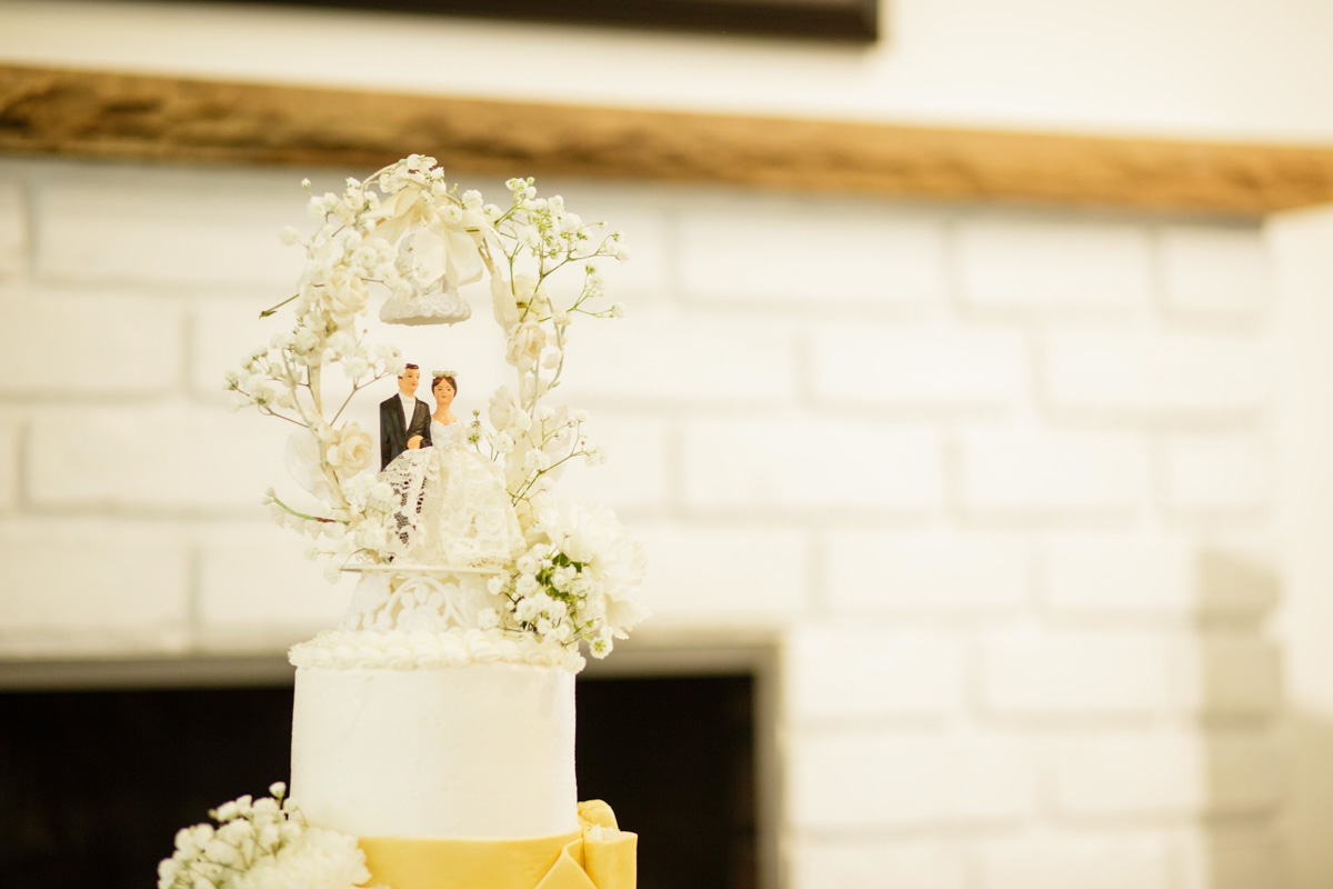 original cake topper at anniversary party