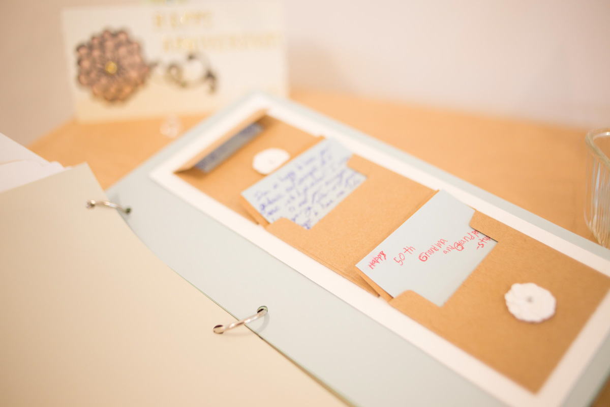 place to put well wishes cards for bride and groom
