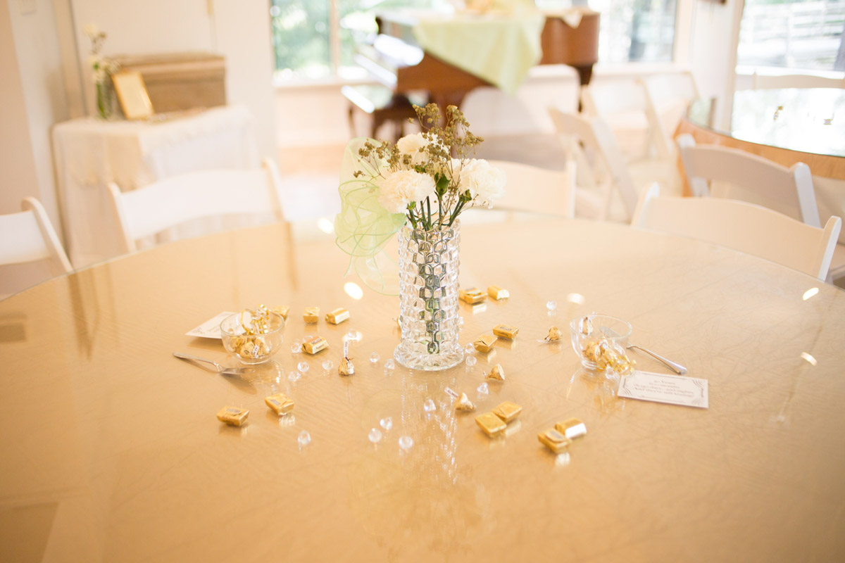 simple gold table setting