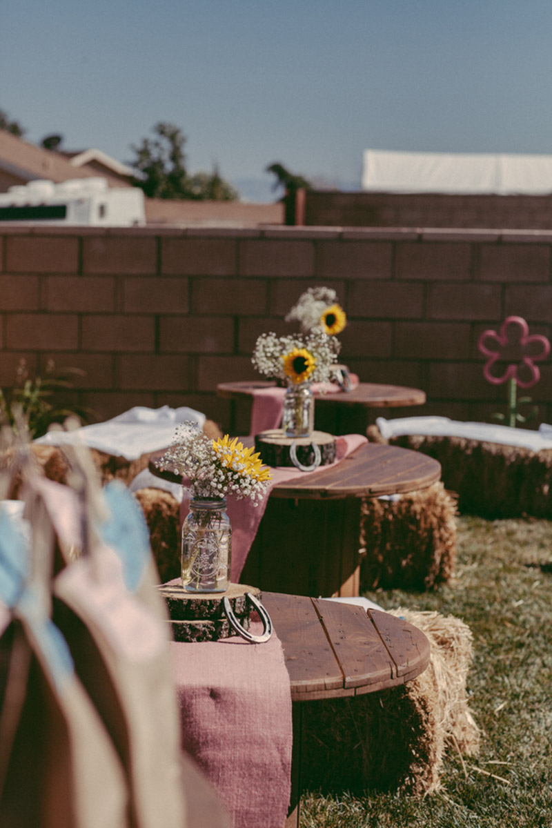 table decorations at rodeo themed birthday party