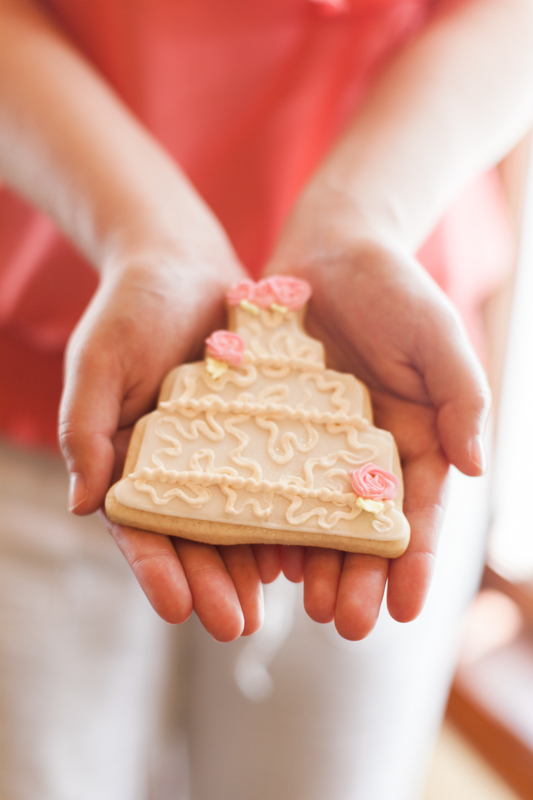 wedding cake shaped cookie