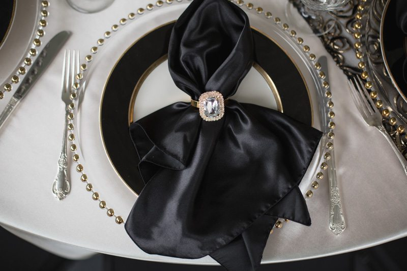 Black & White Table Setting_