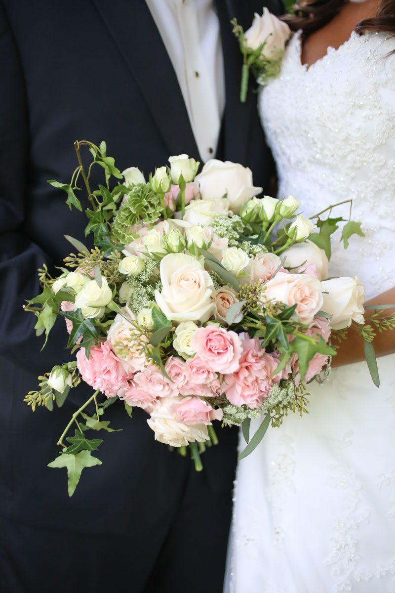 Blush & White Rose Bouquet