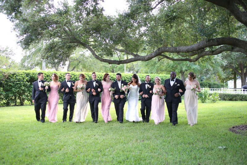 Bridal Party Arm in Arm
