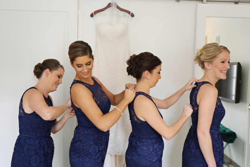 Bridesmaids Zipping Dresses