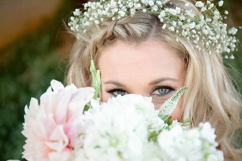 Close up of Flower Crown & Headpiece