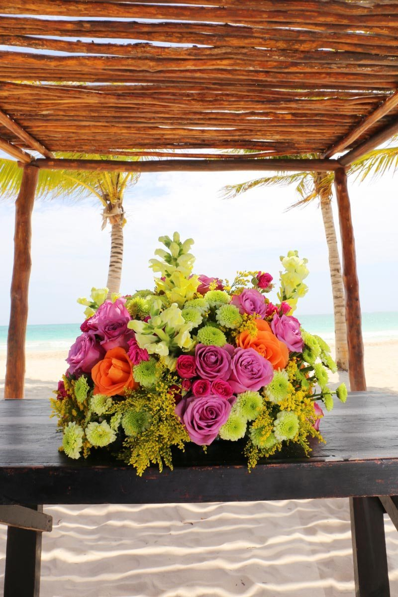 Flowers on Beach_