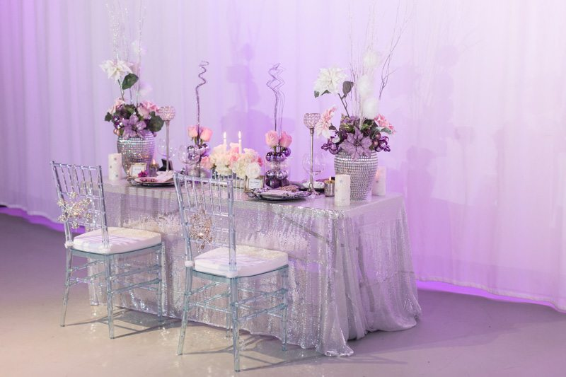 Full View of Reception Table_