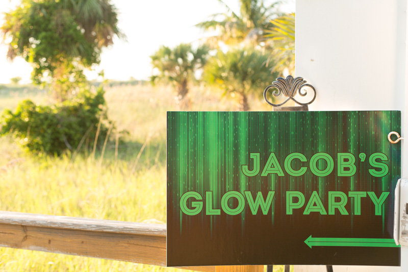 Jacob's Glow Party Sign