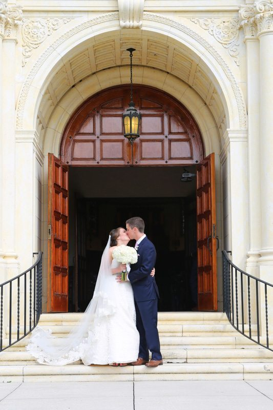 Kissing Outside Church_