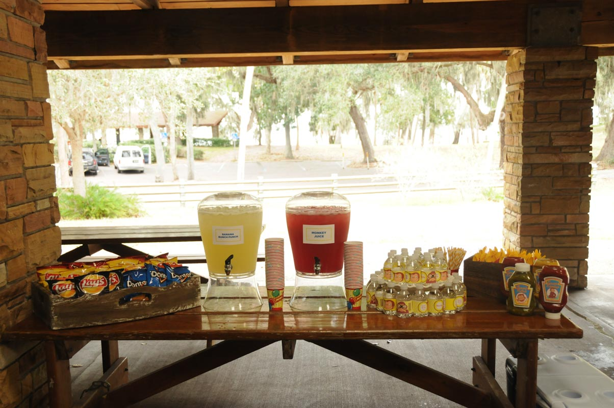 Monkey Refreshment Table