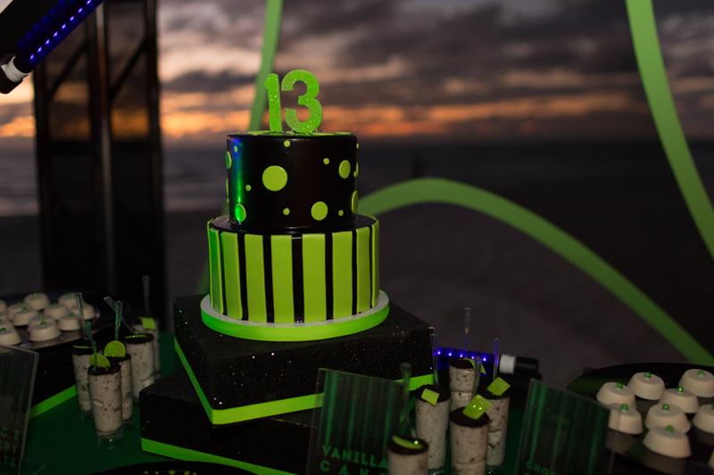 Neon Green & Black Cake