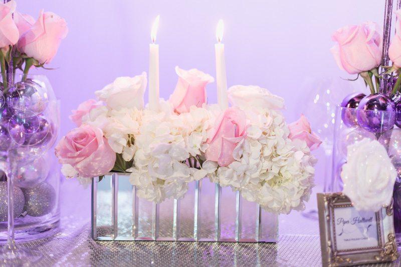 Rose & Hydrangea Candle Centerpiece_