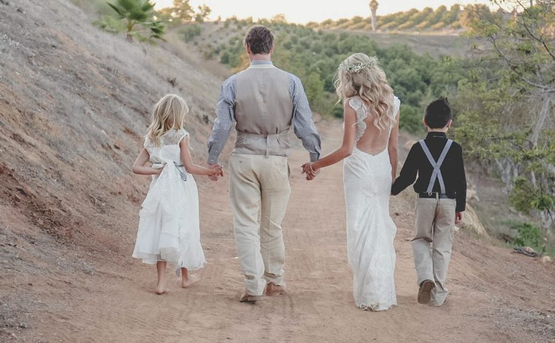 Walking with Flower girl