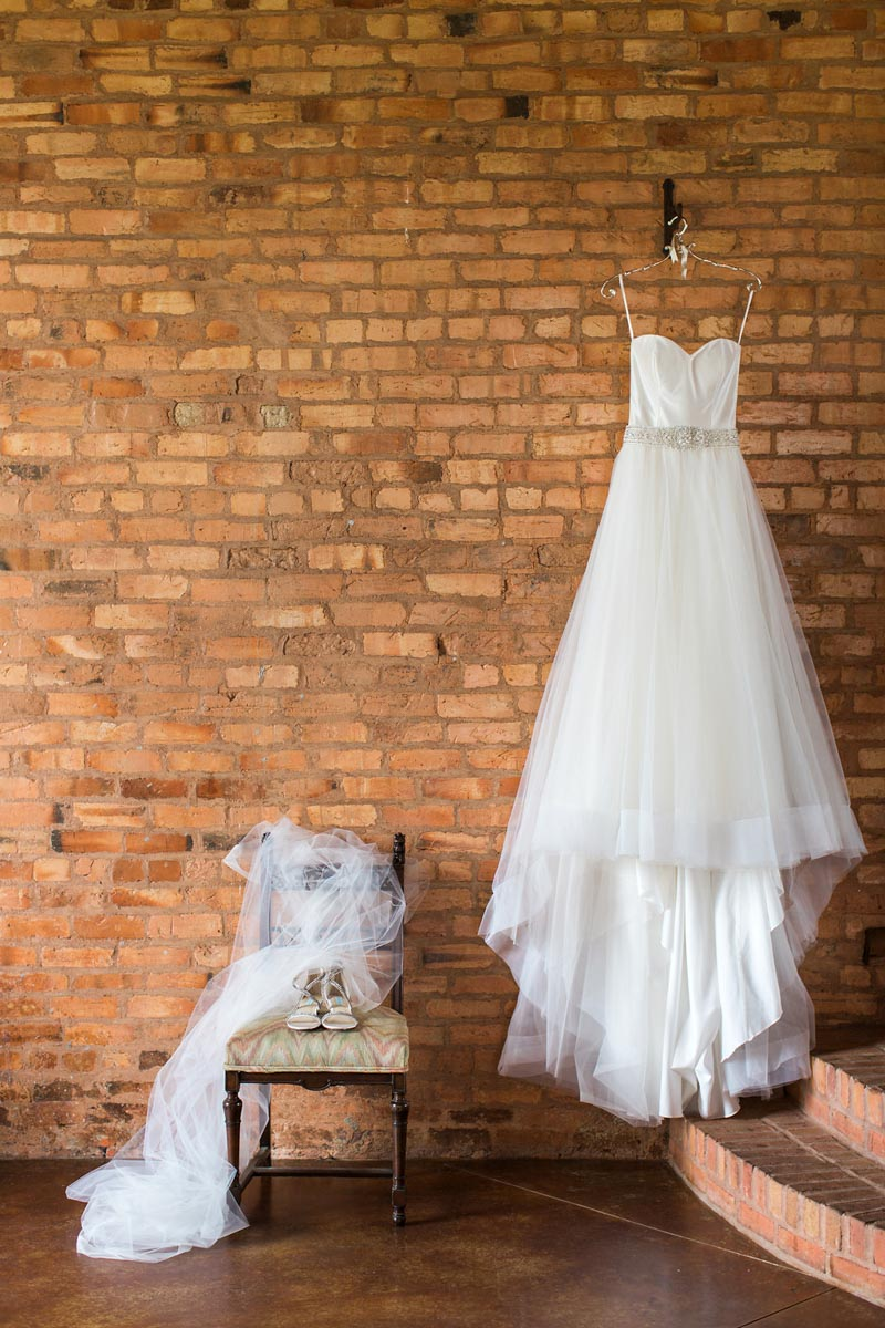 brides white wedding gown