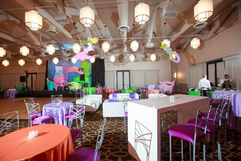 colorful decorations at a birthday party