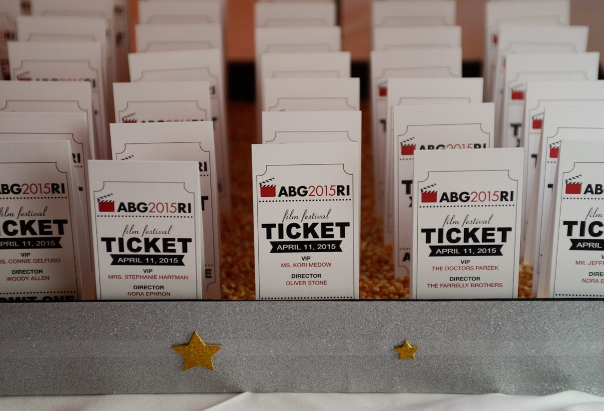 film theme place cards