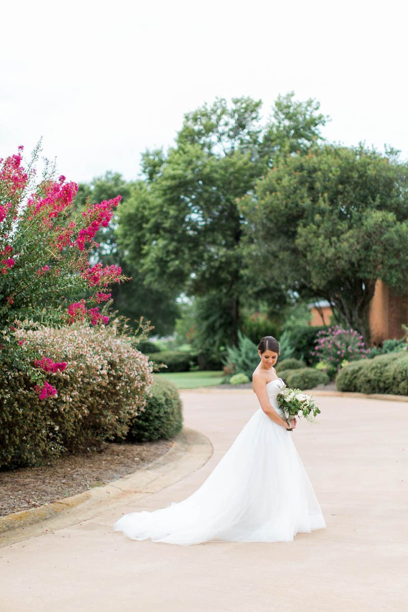 georgia bride in long white wedding gown