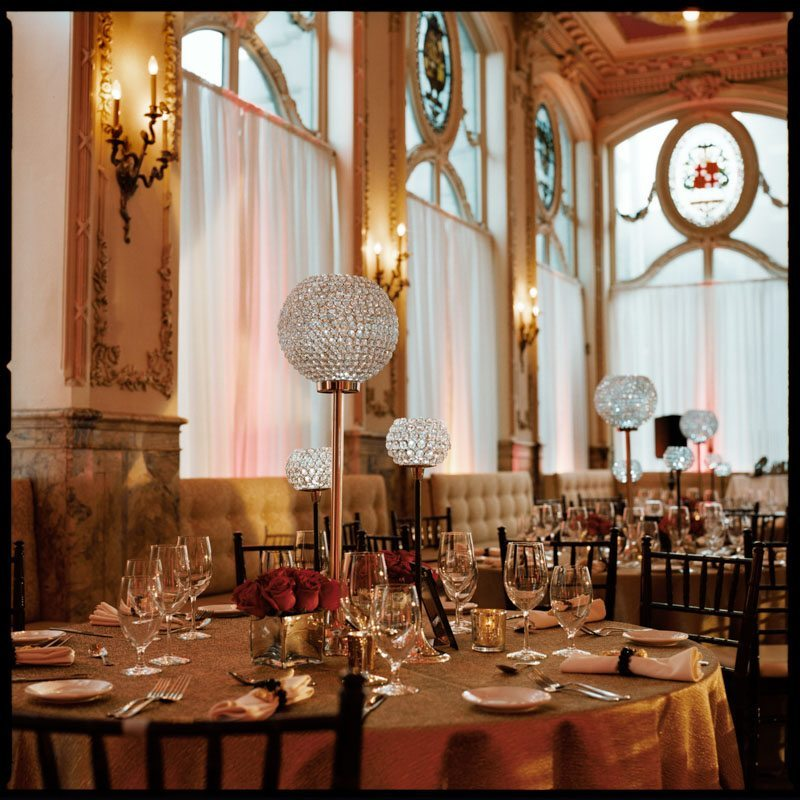 gold and silver party decorations