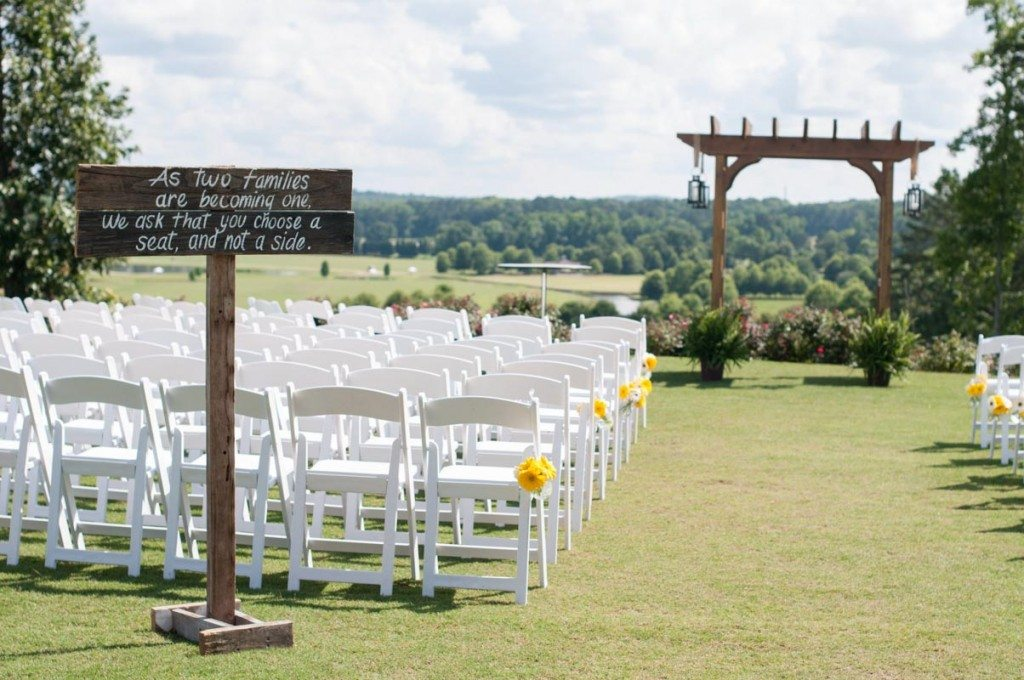 A Touch Of Yellow Inspired Outdoor Wedding In Douglasville Ga The Celebration Society
