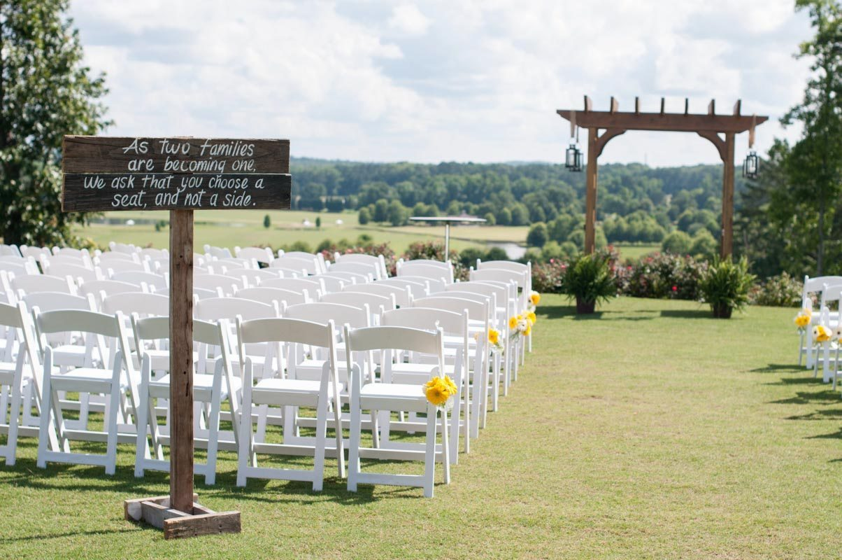 A Touch of Yellow Inspired Outdoor Wedding in Douglasville ...