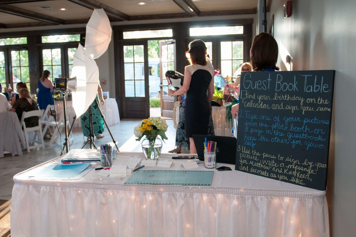 photo booth and guest book