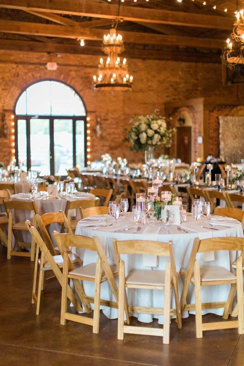 rustic wedding venue reception