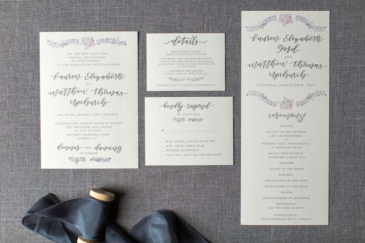 rustin wedding invitations
